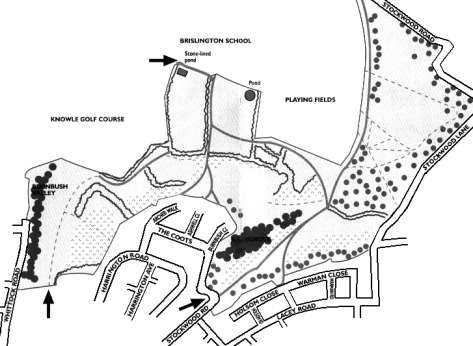Stockwood Open Space map